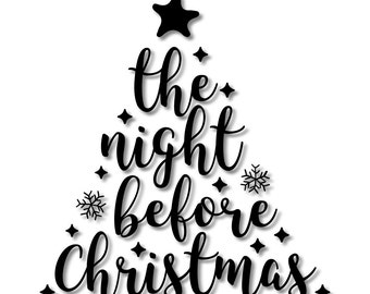 The Night Before Christmas Holiday Stencil