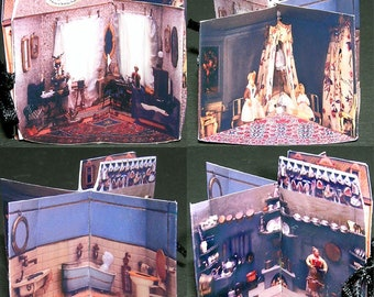 Folding Dollhouse paper minis, DIY kit from paper in miniature for the Doll House, Doll House, dollhouse miniatures # 40022