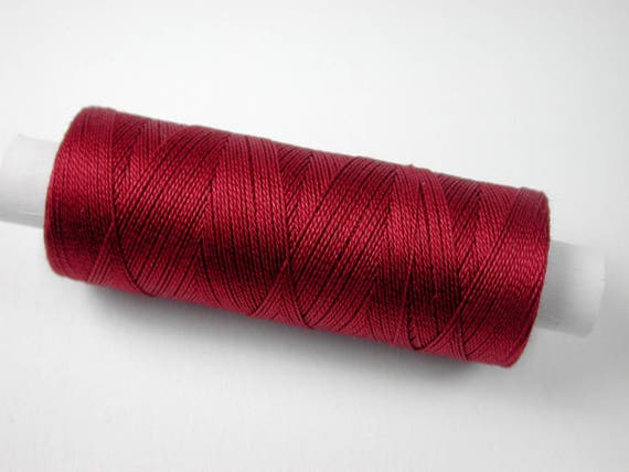 3005 color Burgundy, Jerry cotton, knitting and crochet yarn for the miniature hand work