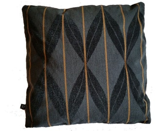 Arc Com Fanfare Wool Epingle Charcoal and Black Pillow Cover 46554-08 (B4)