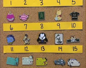 Create your own Disney pin set – individually priced (set AK)