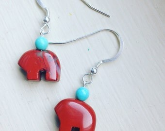 Jasper Bear Energy Sterling Silver Earrings