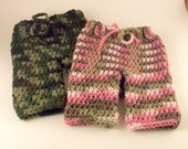 Newborn - 3 Month Boy Camo Pink Girl Camo Crochet Pants Britches Handmade Infant Baby Boy Girl Photo Photography Studio Prop