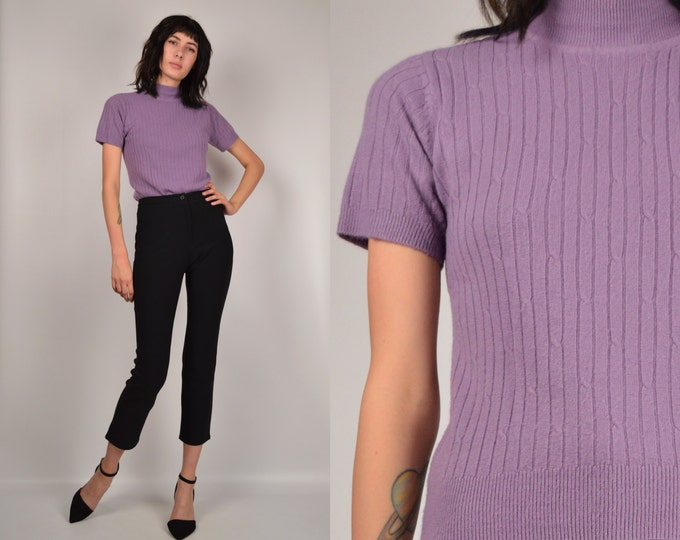 90's Mock Neck Ribbed Top