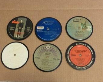 Vinyl Record Album LP Coasters set of 6 mixed artists #27