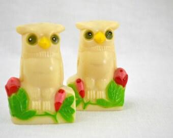 Cello Owl Salt & Pepper Shakers - HK Molded Plastics