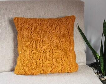 Knitting PATTERN pillow - Butterscotch cushion cover pattern, homedecor patterns  - Listing157