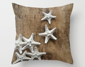 Not All Stars Belong in the Sky - Throw Photo Pillow [Sanibel Island Starfish Shells / Beach Ocean Seahorse Nautical Boho Florida USA Cover]