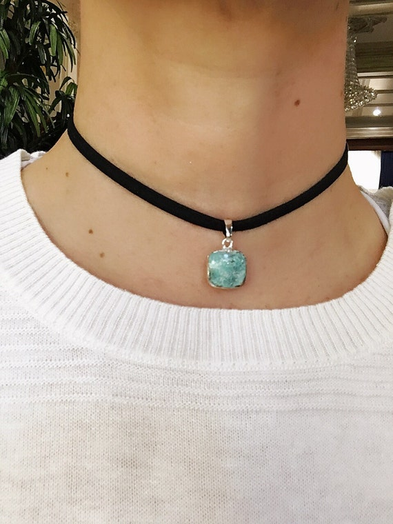 Turquoise Choker, Chokers, Turquoise Necklace