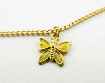 Butterfly Charm Choker Necklace