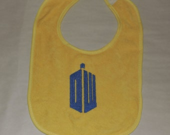 RTS Doctor Who Bib Baby Shower, Baby Gift, Baby Nursery,  Baby Gift for Mom, Baby Gift for Boys, Baby Gift for Girls,