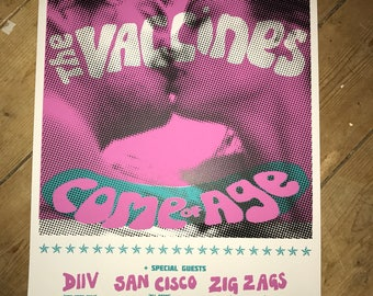 The Vaccines - Come of Age - American your screen printed gig poster.
