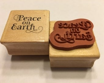 Peace on Earth rubber stamp, 25 mm (BB4/7)