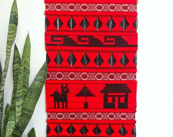 Red & Black Woven Wall Hanging/Tapestry