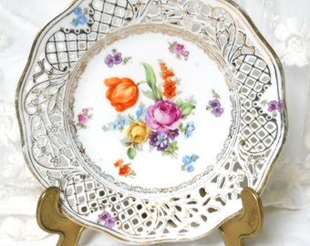 vintage collectible plate Schumann plate collectable plate floral collectable plate floral plate