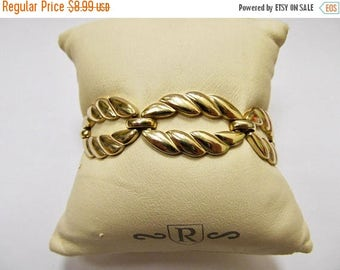 On Sale MONET Gold Tone Open Link Panel Bracelet Item K # 1541