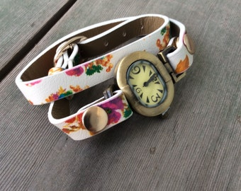 Floral Wrap Watch/Boho Watch/Hippie Watch