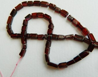 14 inch strand Natural Garnet Rectangle Beads ,Red Garnet beads , Red Gemstone Beads