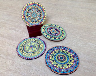 Mandala Coasters Set 2