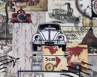 Vintage Stuff Cotton Fabric, Digital Printing - Fabric By the Yard 96230