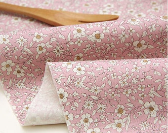 Wild Flowers Cotton Fabric, Floral Fabric - Pink - Fabric By the Yard 74371
