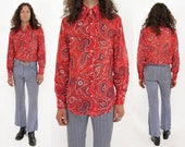RESERVED // Vtg 60s Psychedelic Paisley Shirt S/M
