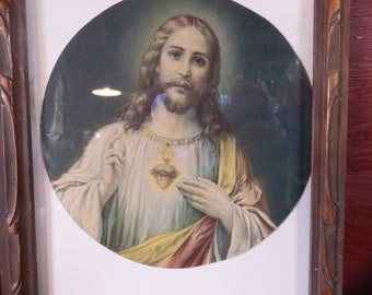 Vintage Picture Sacred Heart of Jesus