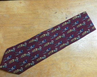 LT Designs golf necktie burgundy Milano New York