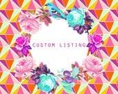 Custom order for Kristen / CLASSIC SADDLE