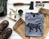 Alpha Male T-shirt • Unique Gift for Fathers • Hand-lettered Typographic Lion Design for Dads • Father's Day Gift Shirt • FREE SHIPPING