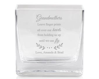 6 Square Glass Vase 6 Inch Clear Cube Centerpiece