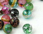 Surprise sale 20pc mix color 10mm painted glass beads-7260