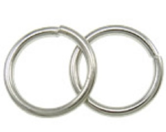 25pc 20mm large antique silver finish jump rings-FR9
