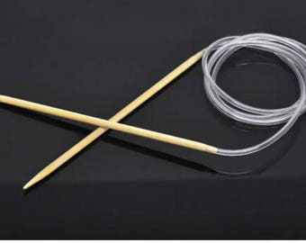 1PC Bamboo 120cm Circular Knitting Needle(US Size  6/ 4mm) -bb13