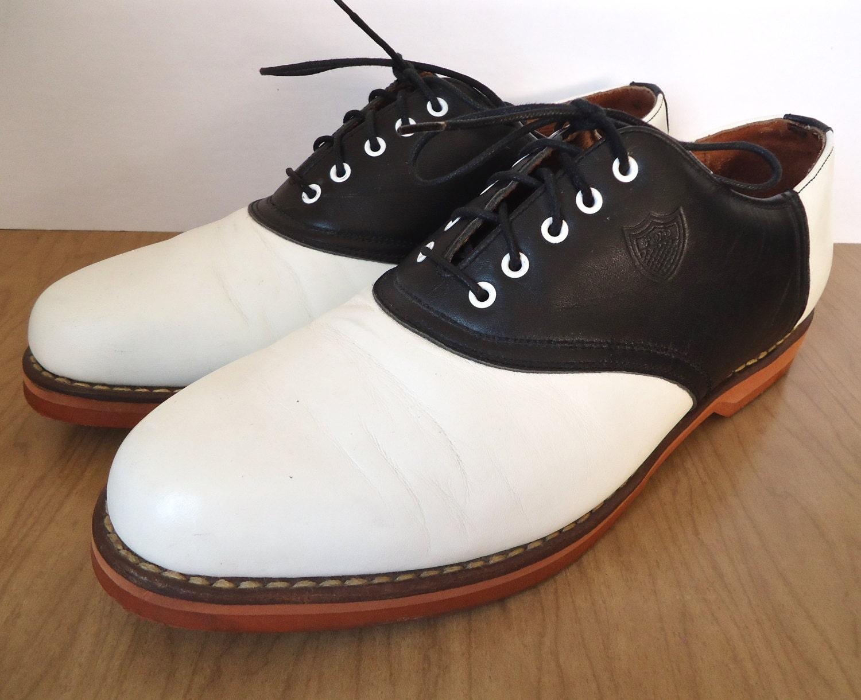 Ralph Lauren Golf Shoes Vintage Polo Black Amp White Saddle