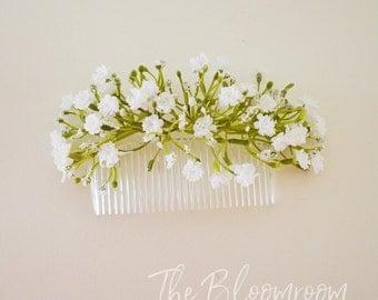 Gift for daughter / Wedding comb / Bridal hair comb / Silk flower comb / Bridal decorative comb / Bridesmaid comb / Floral hair comb