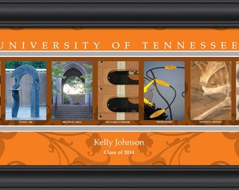 PERSONALIZED & FRAMED NCAA Tennessee Volunteers Letter Art Sports Prints