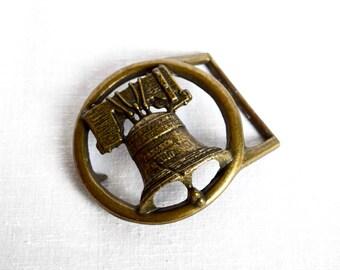 Vintage Liberty Bell belt buckle…Liberty Bell buckle...openwork buckle.