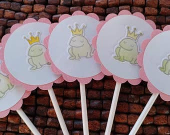 Princess Birthday Party -Set of 12 Castle Cupcake Toppers