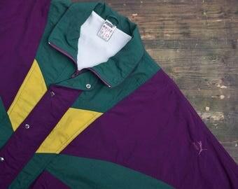 Retro 90s Purple Puma Jacket
