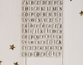 Clear Stamp Set - Alphabet stamps - Acrylic Stamps, Polymer Alphabet Stamps, Planner Stamps