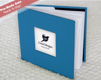 Pre-Made Ready to Ship! - Baby Memory Book - Soft Blue Theme - 1st Year Basic