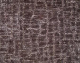 SCALAMANDRE STARK ALLIGATOR / Crocodile Animal Skins Cut Velvet Fabric 10 Yards Grape Purple