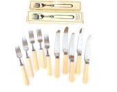 Soviet flatware Soviet cutlerySoviet fork knife set Soviet forks knives Soviet stainless steel cutlery Vintage flatware Bakelite flatware