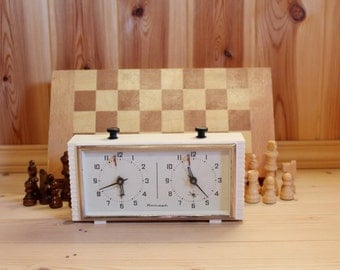Chess clock Soviet vintage Jantar chess clock Russian chess clock Vintage chess tournament clock