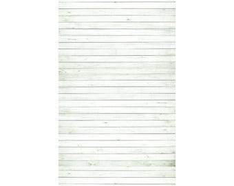 All White Wood All-in-One - Vinyl Photography  Backdrop Photo Prop