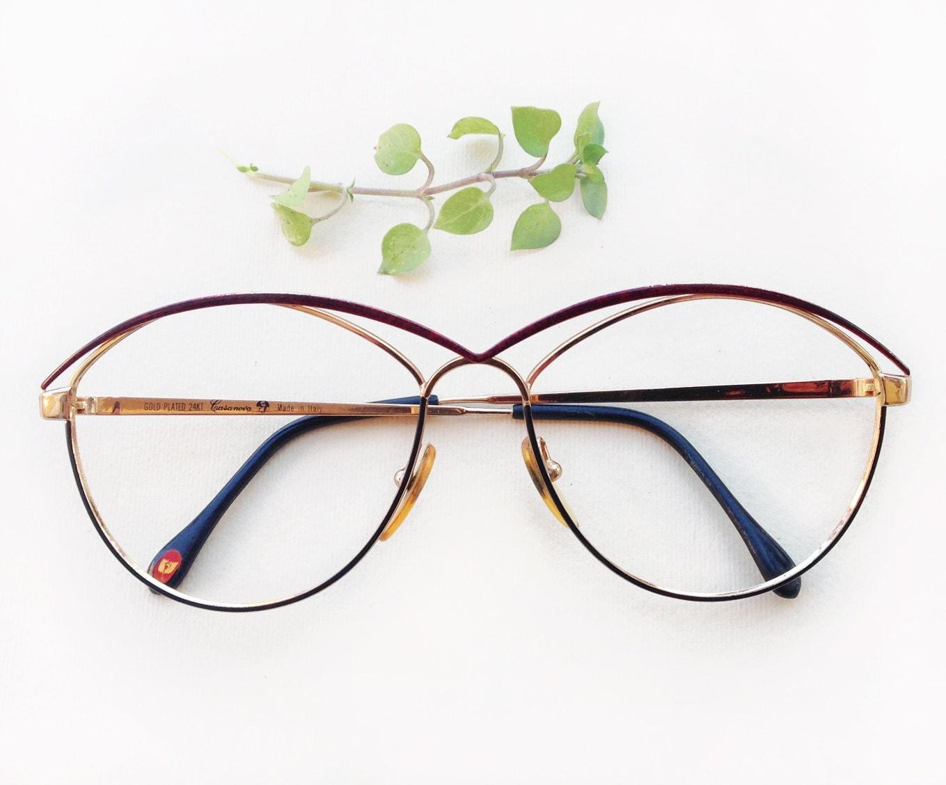Casanova 24 k gold plated eyeglasses frames rare designer - Mobeldesigner italien ...