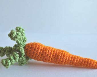 Crochet Carrot - Eco friendly play food