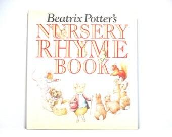 Beatrix Potter Nursery Rhyme Book 1984 Frederick Warne & Co., London Vintage Book