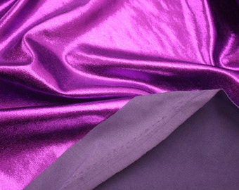 "Purple French Lame Fabric 58""/60"" Wide Per Yard"